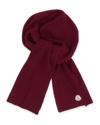 Moncler Men's Cashmere Ribbed Scarf in Purple for Men ...