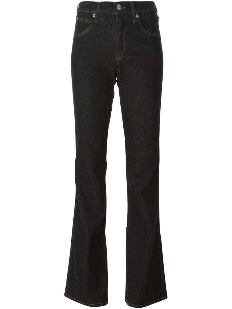 Armani Jeans Bootcut Jeans In Black Lyst