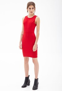 Lyst - Forever 21 Classic Sheath Dress in Red