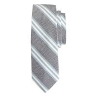 Lyst - J.Crew Cotton-silk Tie In Navy Stripe in Blue for Men