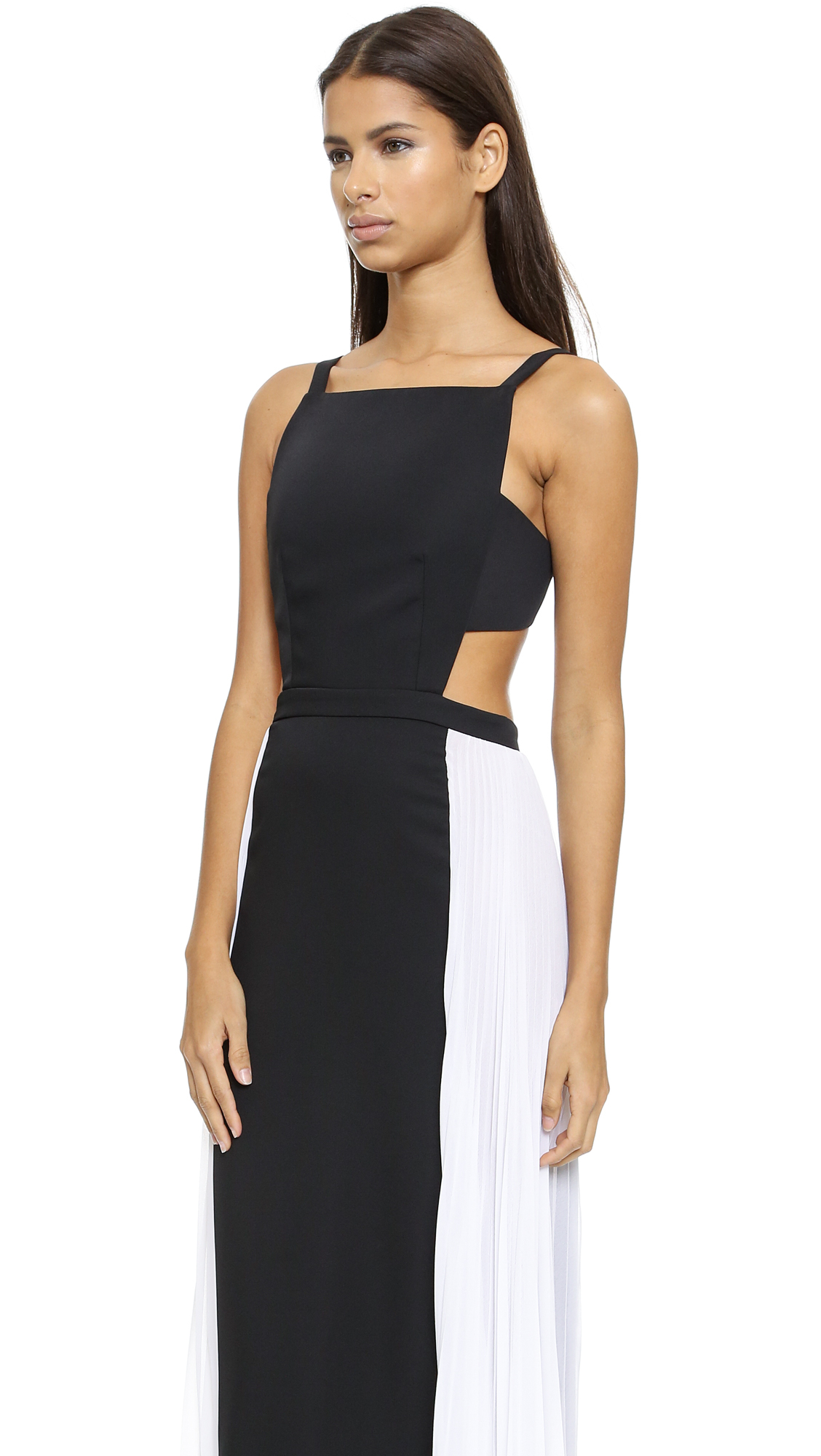 Lotus Brielle Lyst Bcbgmaxazria Brielle Gown Black Combo In Black