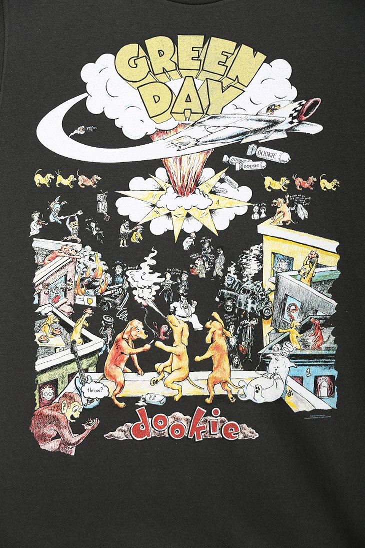 Leather Wallpaper Iphone 6 Lyst Urban Outfitters Green Day Dookie Tee In Black For Men