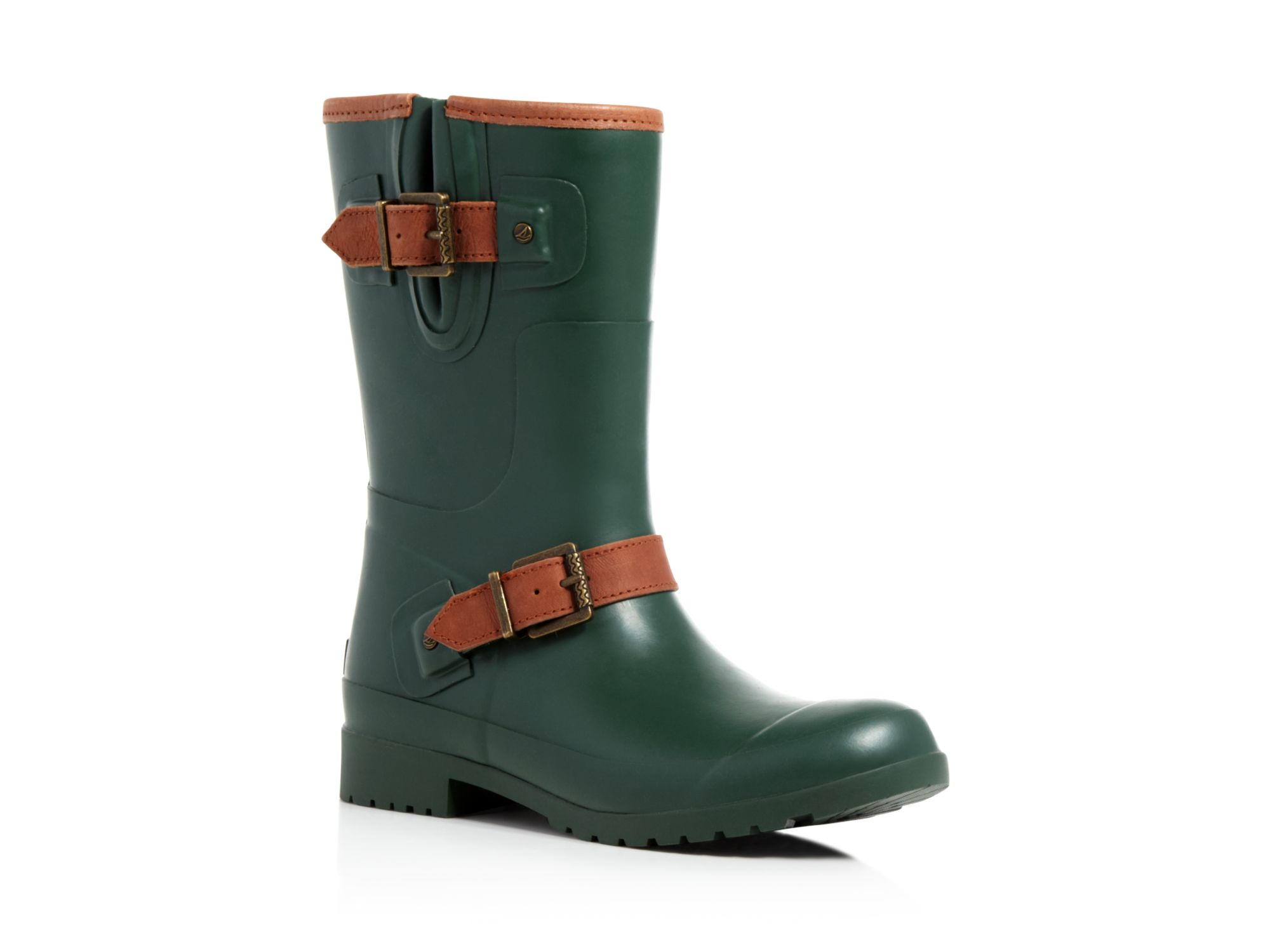 Lyst Sperry Top Sider Walker Fog Buckled Rain Boots In Green