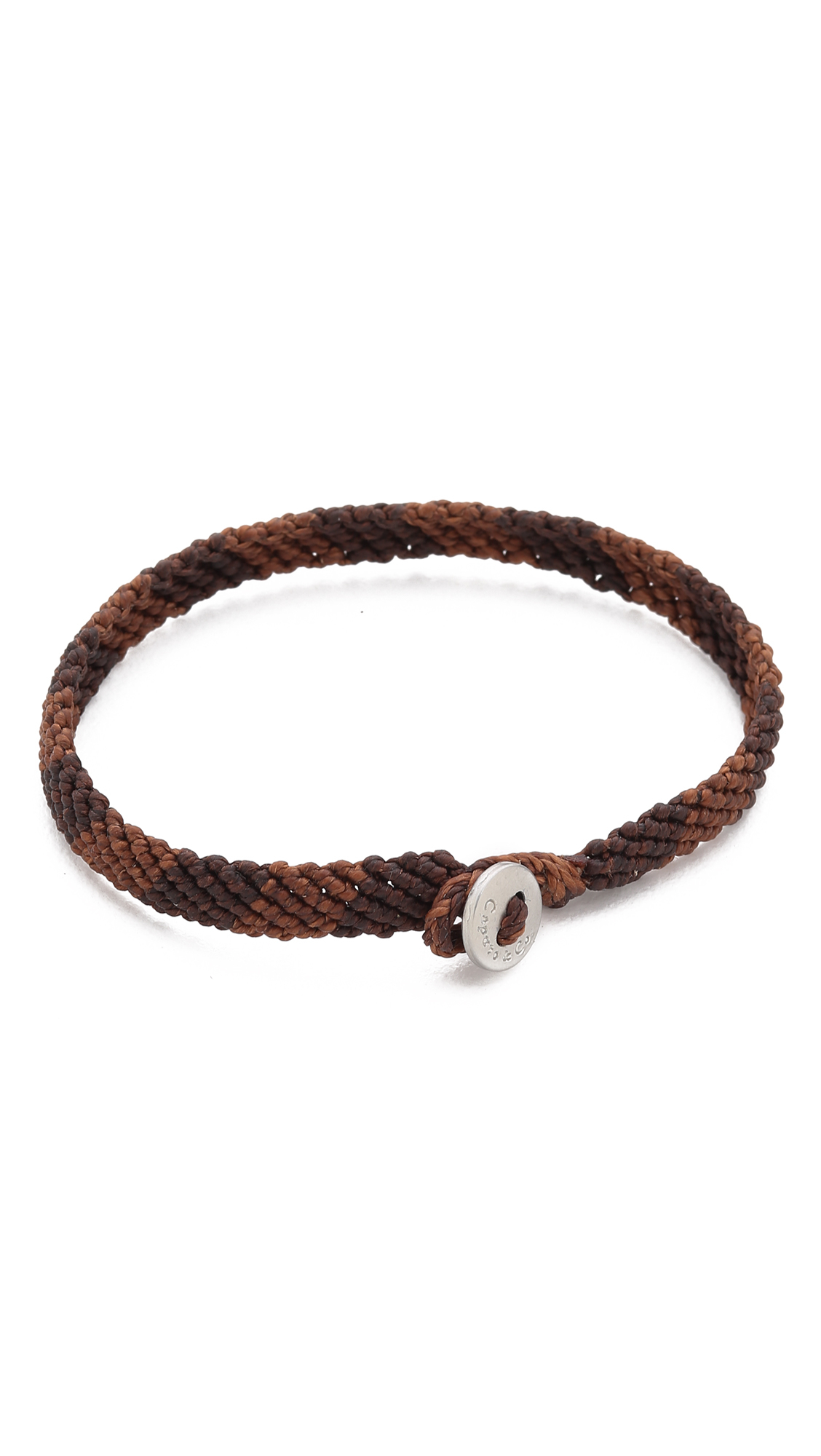 Caputo Co Hand Knotted Rugby Bracelet In Brown For Men