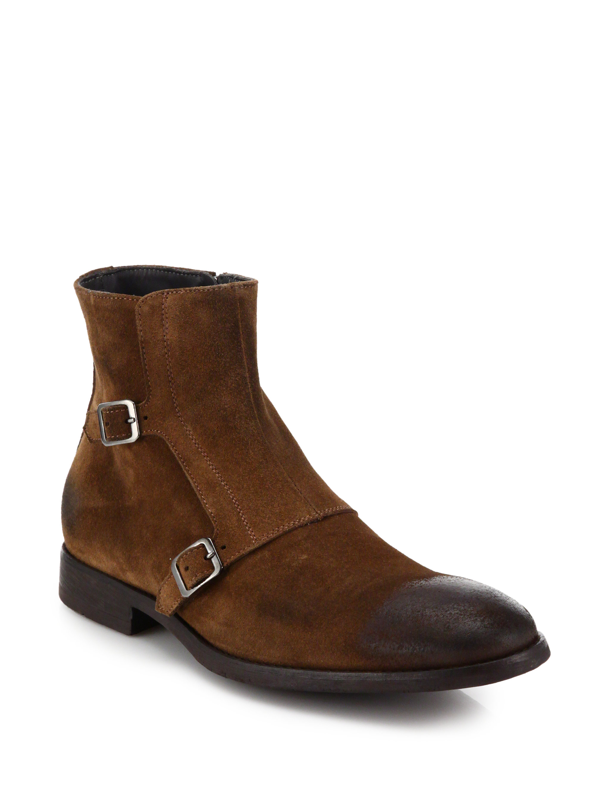 Lyst To Boot Gallis Double Buckle Monk Strap Boots In