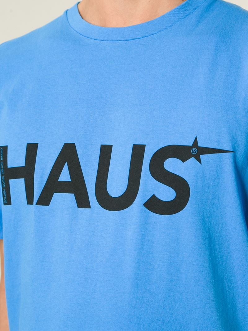 Lyst Haus By Golden Goose Deluxe Brand Logo Print T Shirt In Blue For Men - Haus Logo