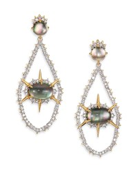 Lyst - Alexis Bittar Shadow Star Black Mother-of-pearl ...