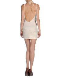 Miss sixty Short Dress in Beige | Lyst