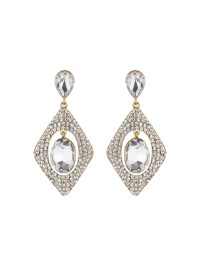 Mikey Diamond Design Hanging Centre Earring | Lyst