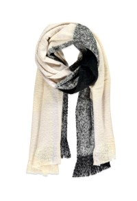 Forever 21 Fringed Oversized Plaid Scarf in Black | Lyst