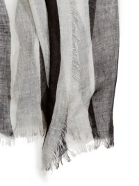 Dkny Lightweight Stripe Scarf in Black | Lyst