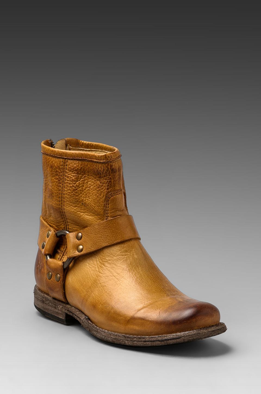 Frye Phillip Harness Boot In Beige Camel Lyst