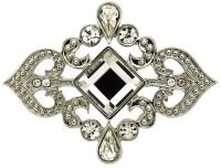 Lyst - Monet Silver And Crystal Scroll Brooch in Metallic
