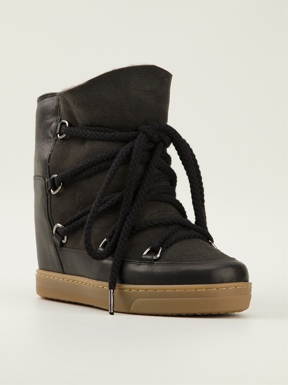 Lyst Isabel Marant 39nowles39 Lace Up Boots In Black