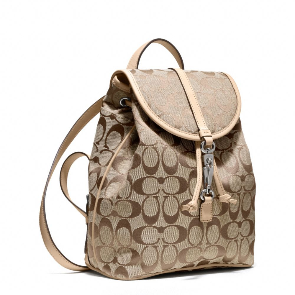Coach Signature Small Backpack In Khaki Natural Lyst