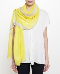 Lyst - Bajra Checker Weave Cashmere-Silk Scarf in Yellow