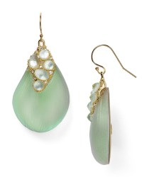 Alexis bittar Crystal Capped Drop Earrings in Green | Lyst