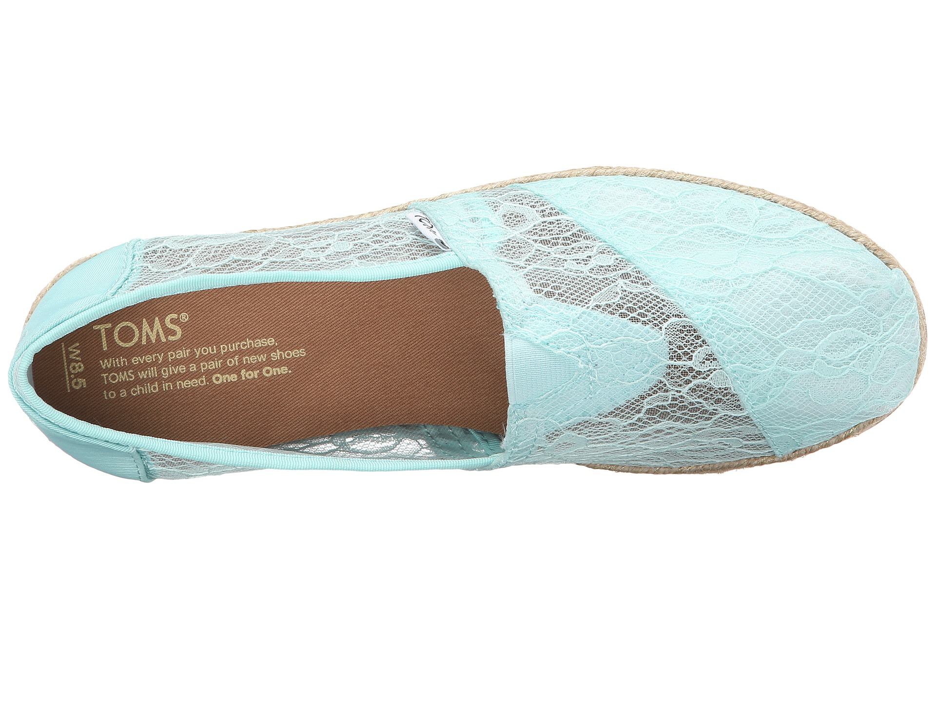 toms wedding classic mint lace toms wedding shoes Gallery