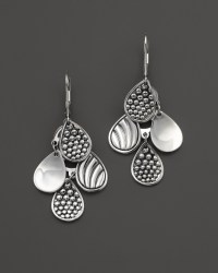 Lagos Sterling Silver Signature Caviar Four Drop Earrings ...