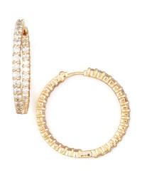 Roberto coin 30mm Rose Gold Diamond Hoop Earrings in Pink ...