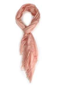 Forever 21 Frayed Gauze Scarf in Pink