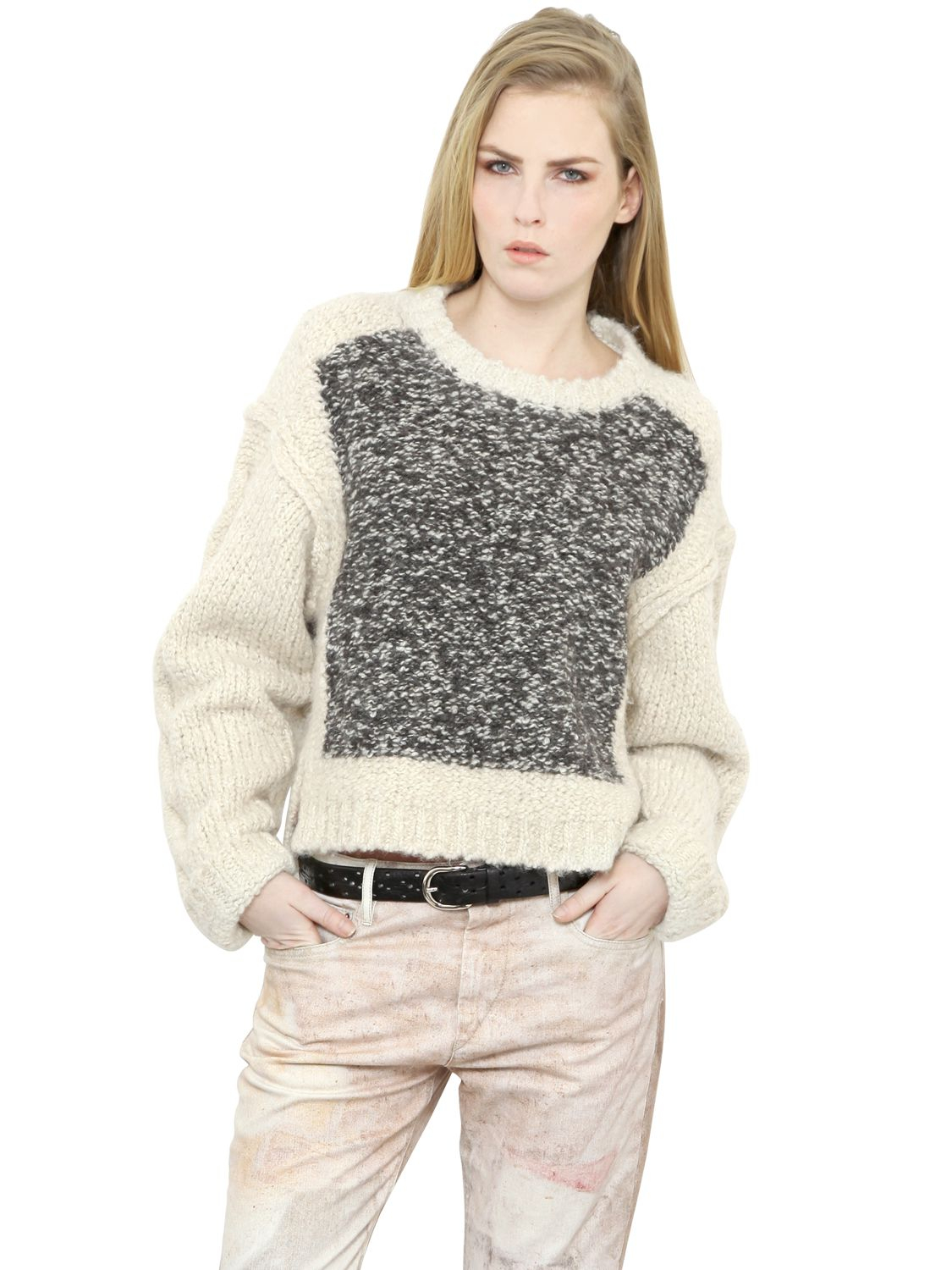 Isabel Marant Lyst Isabel Marant Alpaca Wool Blend Sweater In Gray