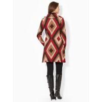 Lyst - Lauren By Ralph Lauren Shawl-Collar Sweater Coat in Red