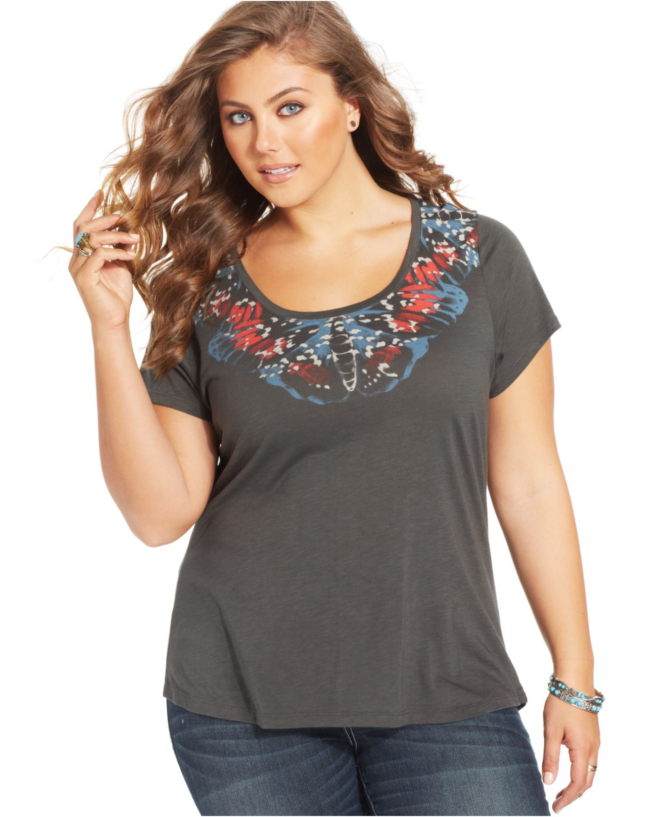 Bobeau Plus Size Clothing Lyst - Lucky Brand Lucky Brand Plus Size Short-sleeve