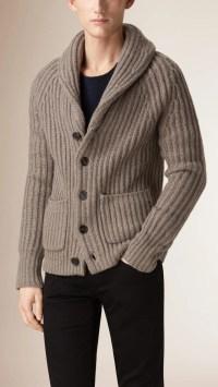 Wool Shawl Collar Sweater - Long Sweater Jacket