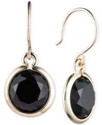 Anne klein Stone Drop Earrings in Black | Lyst