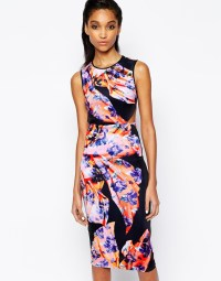 Lyst - Clover canyon Spanish Shawl Dress In Neoprene With ...