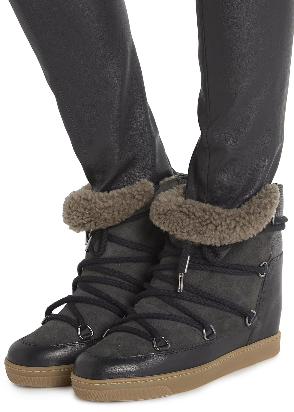 Isabel Marant Nowles Snow Boot In Black Lyst