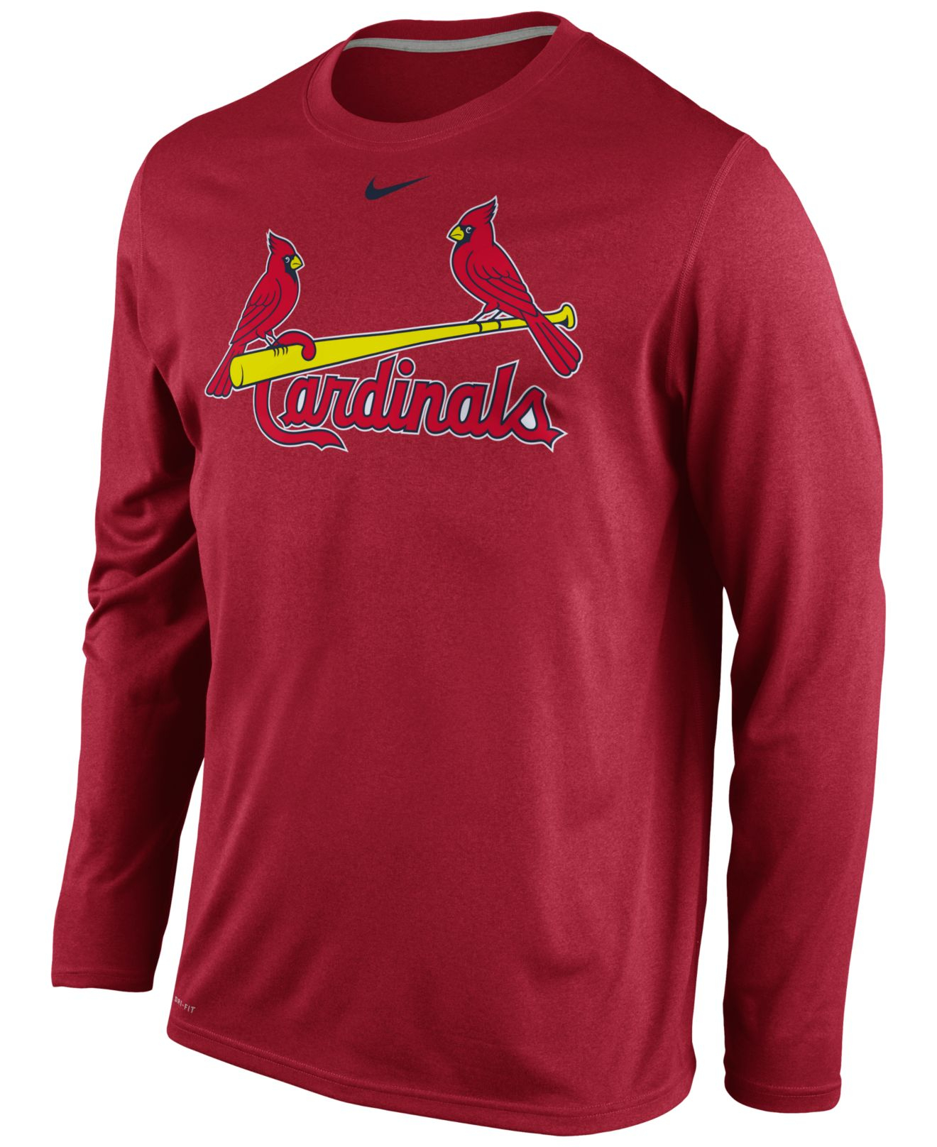 Nike Pullover Red Lyst Nike Men 39;s Long Sleeve St Louis Cardinals Legend T