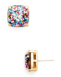 Lyst - Kate Spade New York Small Square Glitter Stud Earrings
