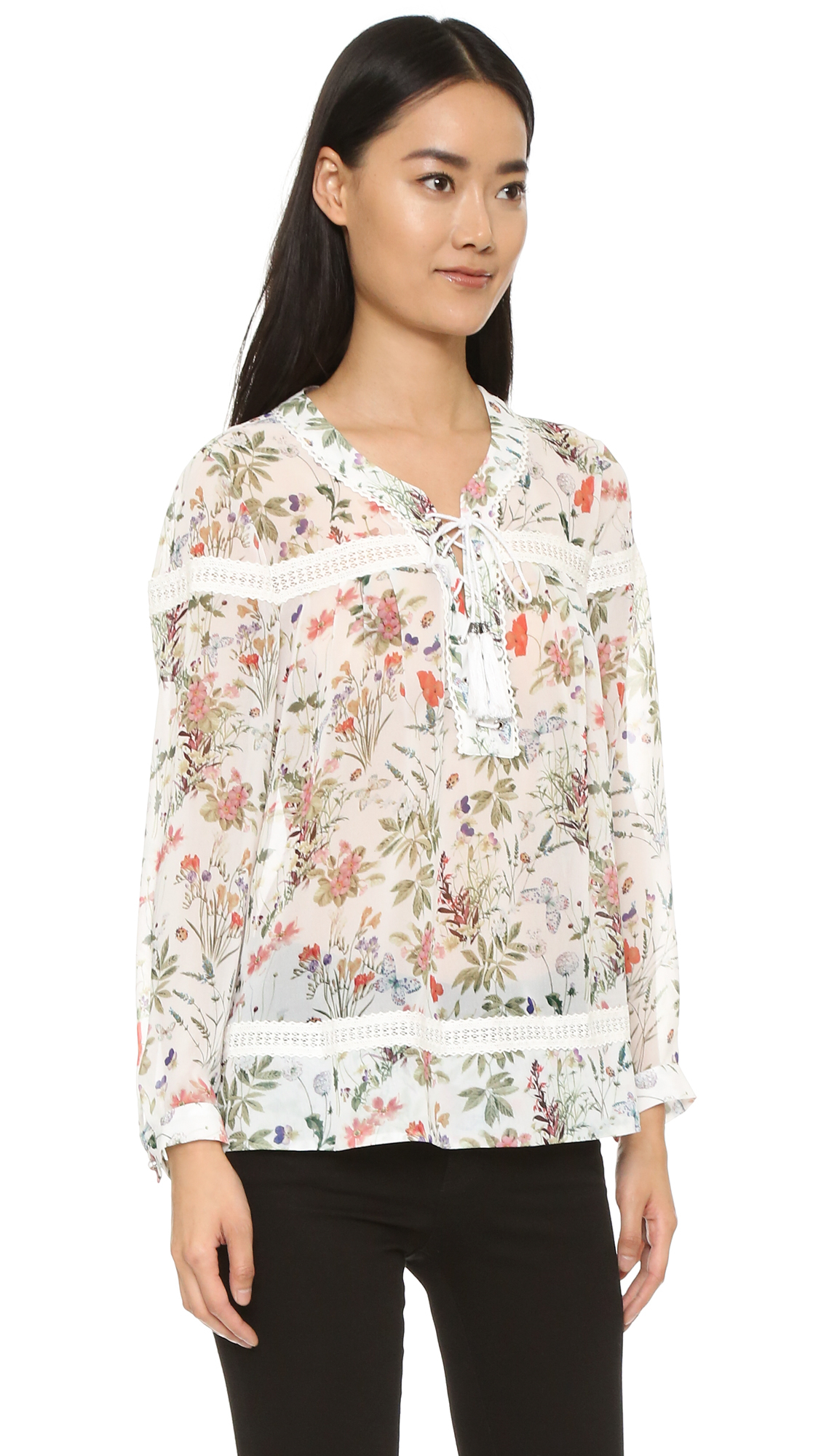 Botanic Soldes The Kooples Botanic Blouse In Natural Lyst