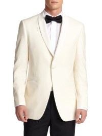 Saks fifth avenue Samuelsohn Shawl-collar Wool Dinner ...