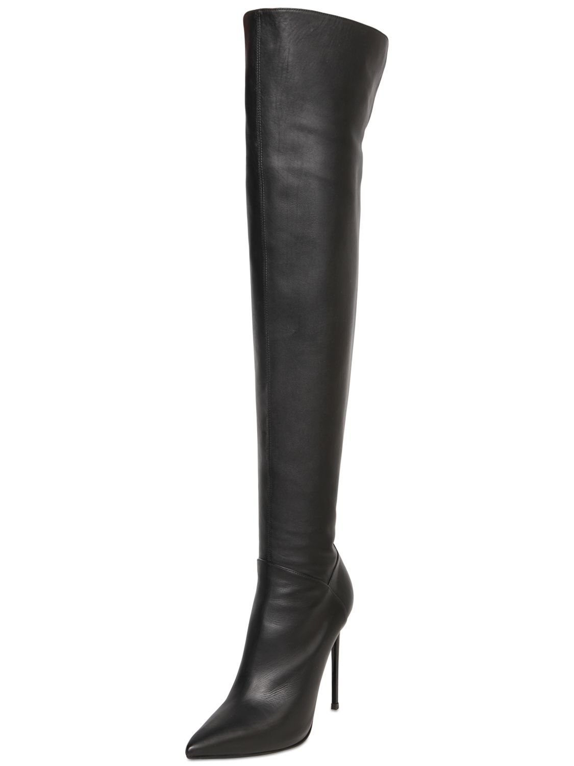 Le Silla Boots Lyst Le Silla 110mm Over The Knee Leather Boots In Black