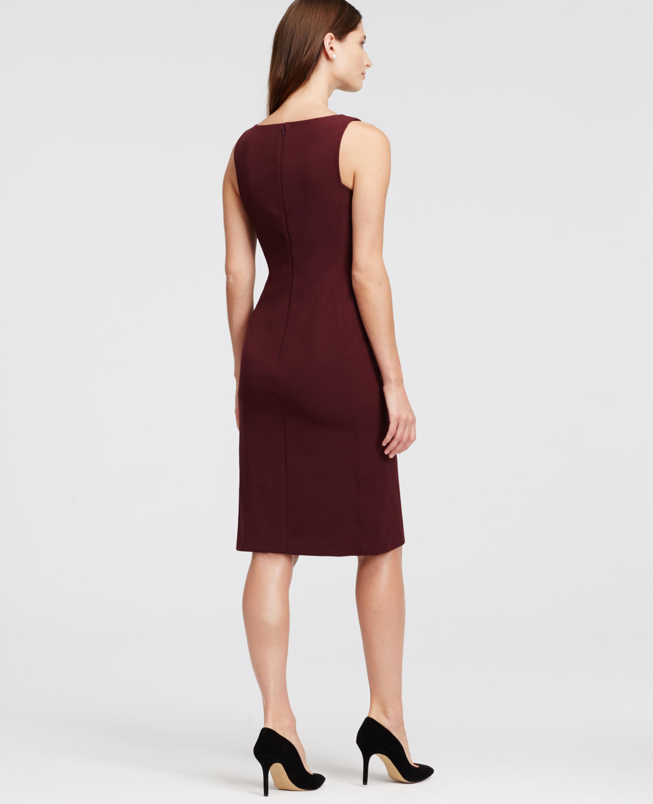 Ann taylor Sleeveless Sheath Dress in Purple (Classic Plum