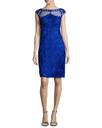 Lyst - Sue Wong Embroidered Cocktail Dress in Blue