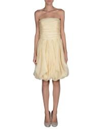 Ralph lauren black label Short Dress in Beige | Lyst