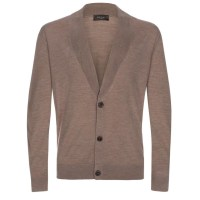 Merino Wool Shawl Collar Cardigan - Long Sweater Jacket