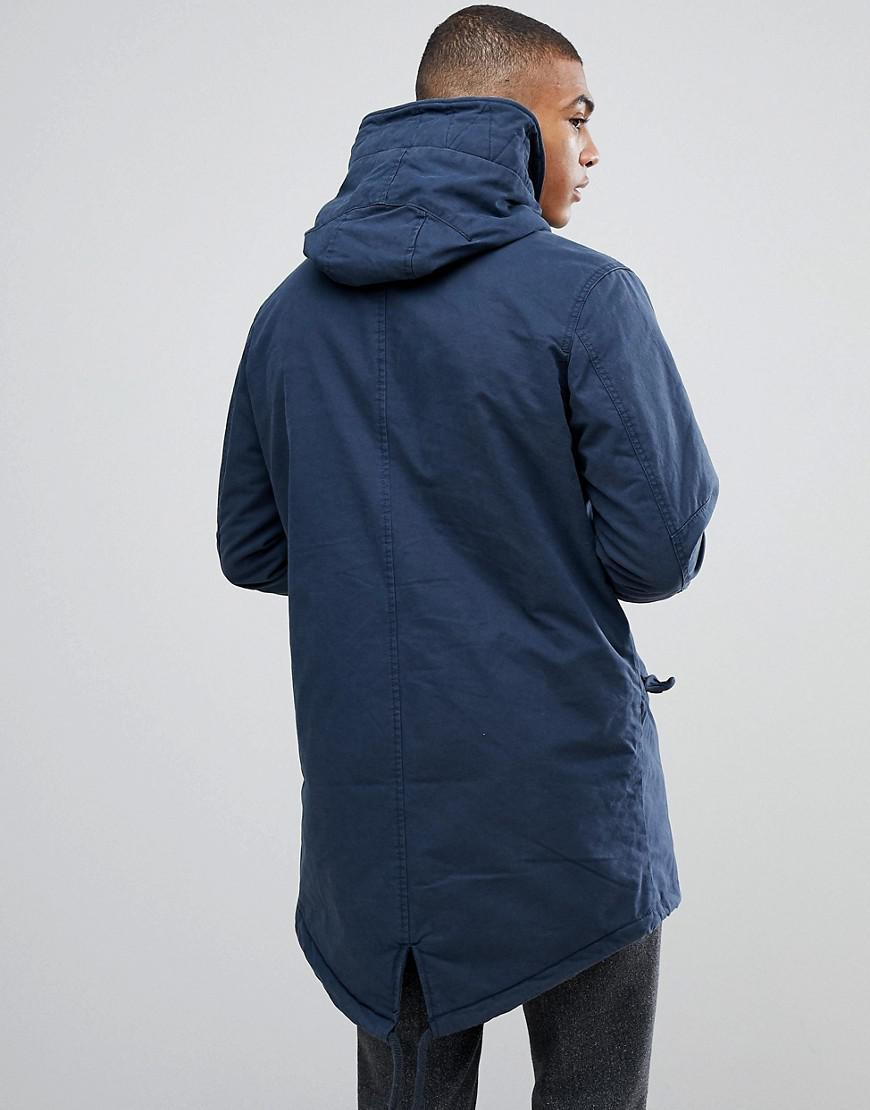 Nike Fleece Parka Jack Jones Parka With Fleece Lining In Blue For Men Lyst