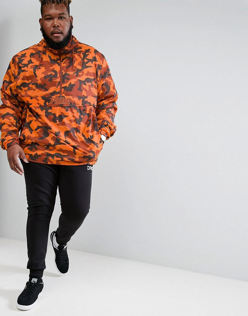 Puma Plus Pullover Windbreaker In Camo Print In Orange Lyst Puma Plus Pullover Windbreaker In Camo Print In