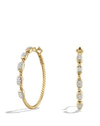 David yurman Confetti Hoop Earrings With Diamonds In Gold ...