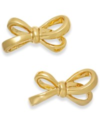 Kate spade Gold-tone Bow Stud Earrings in Gold | Lyst