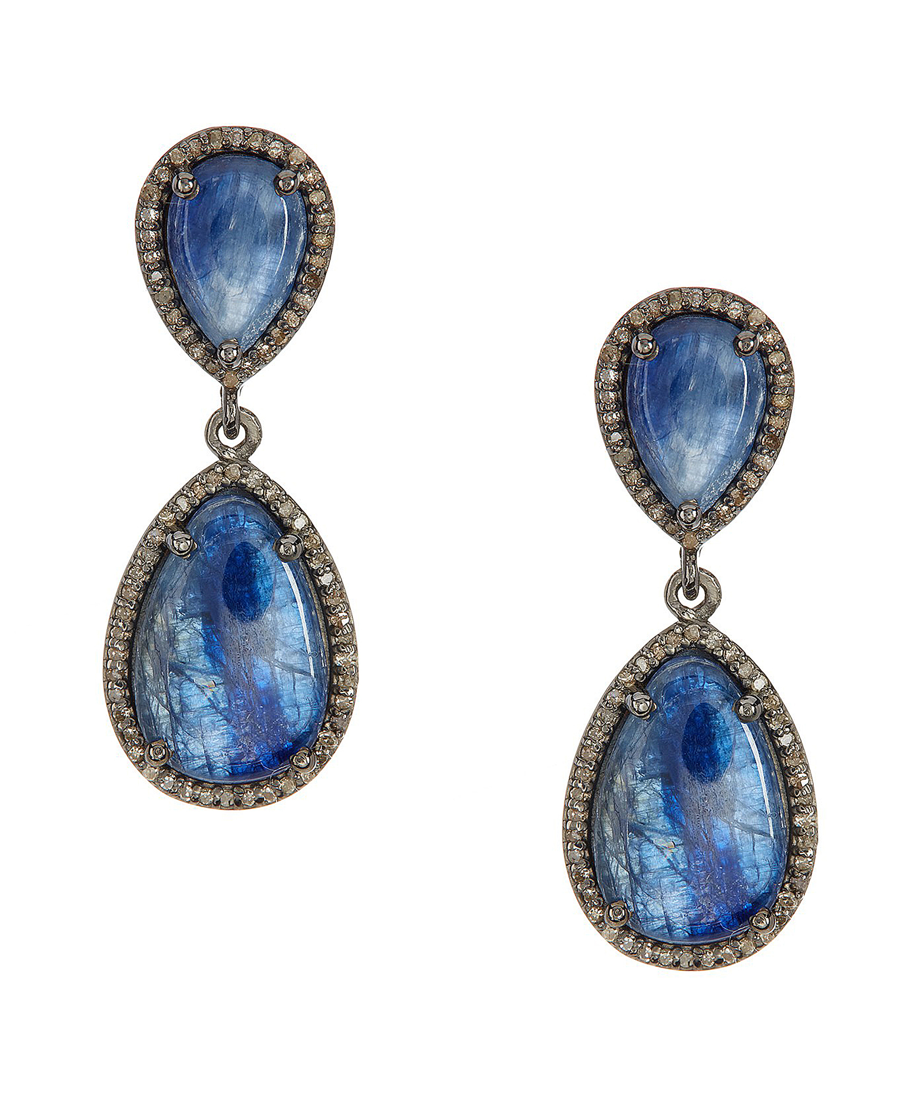 Adornia Kyanite And Champagne Diamond May Earrings in Blue