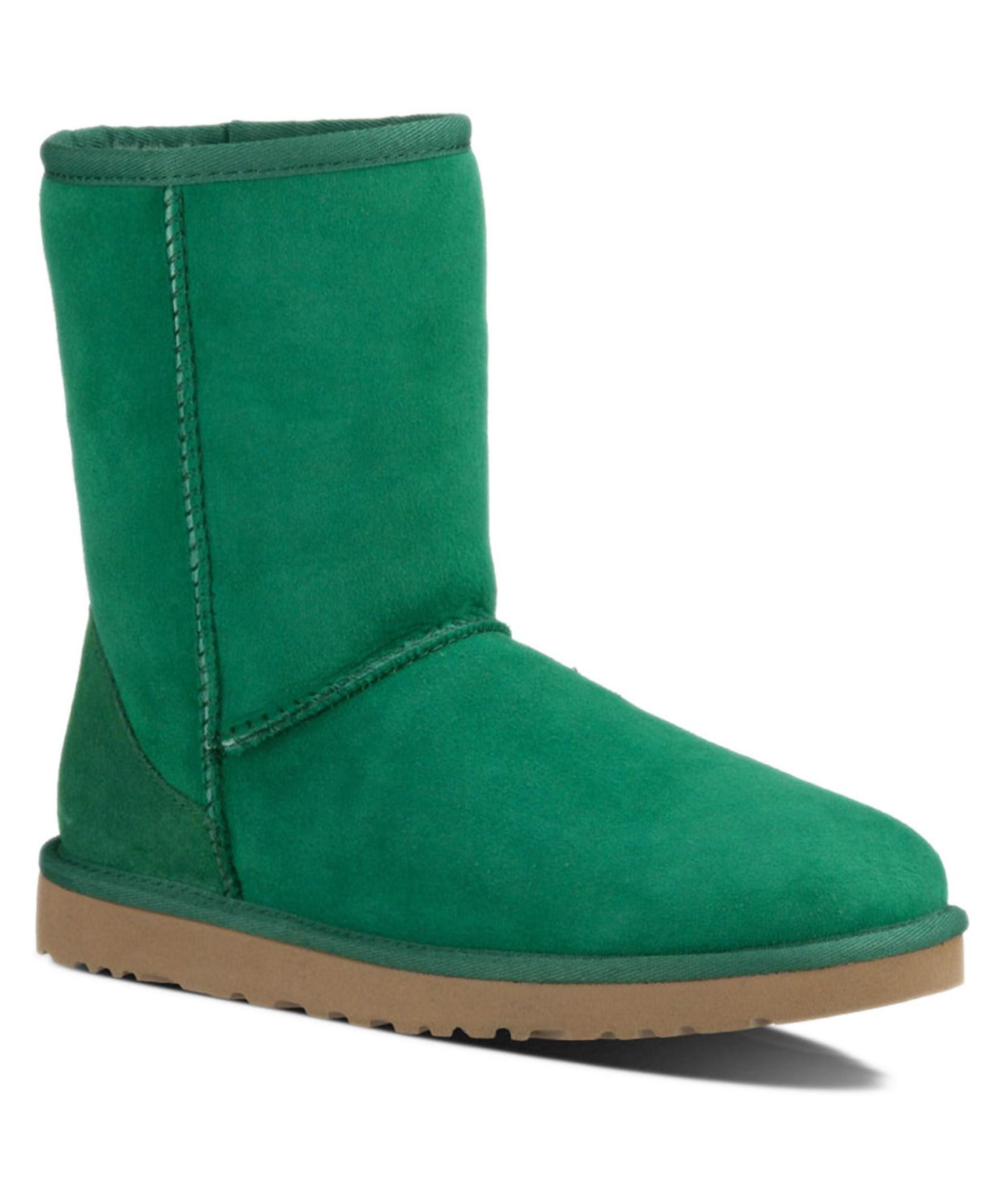 Ugg Classic Short Twinface Sheepskin Boot In Green Lyst