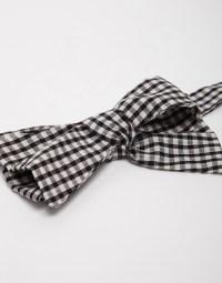 Reclaimed (vintage) Gingham Bow Tie in Black for Men ...