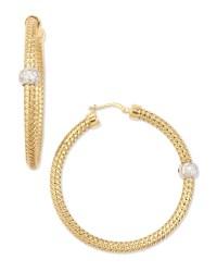 Roberto Coin 18K Yellow Gold Mini Primavera Hoop Earrings ...