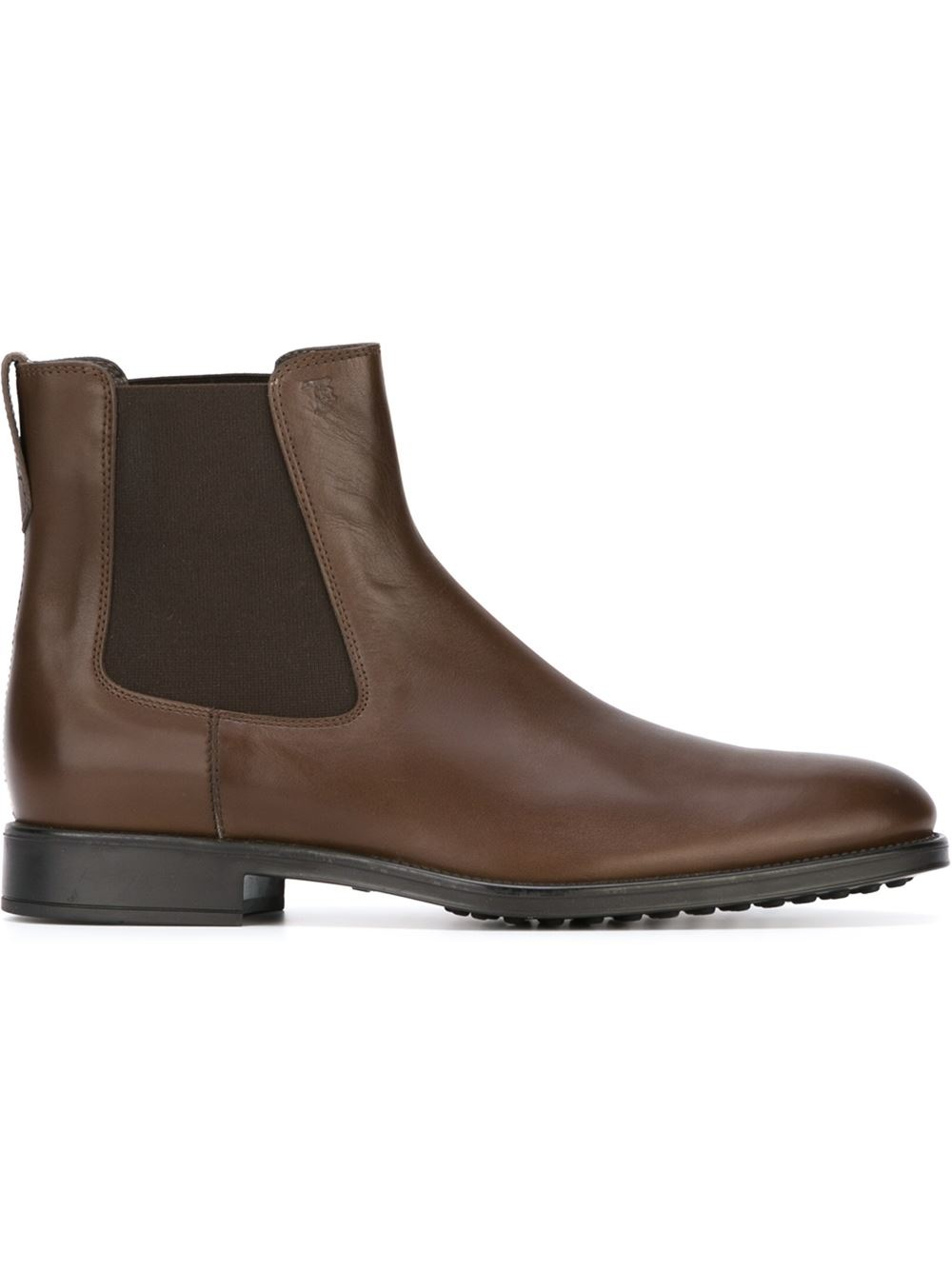 Tod39s Chelsea Ankle Boots In Brown For Men Lyst